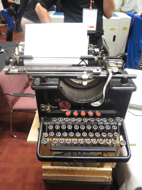 Nearly 100-year-old typewriter turned tweet-printer by Michael Swanzer.