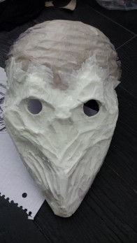While this could mostly have been done with papier mache, I have a weird preference for using masking tape.